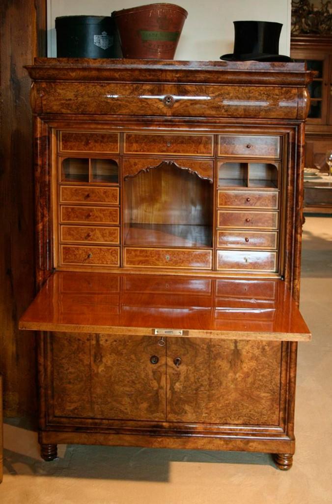 biedermeier schreibschrank antiquit ten frede in m nster restaurierung antiker m bel. Black Bedroom Furniture Sets. Home Design Ideas