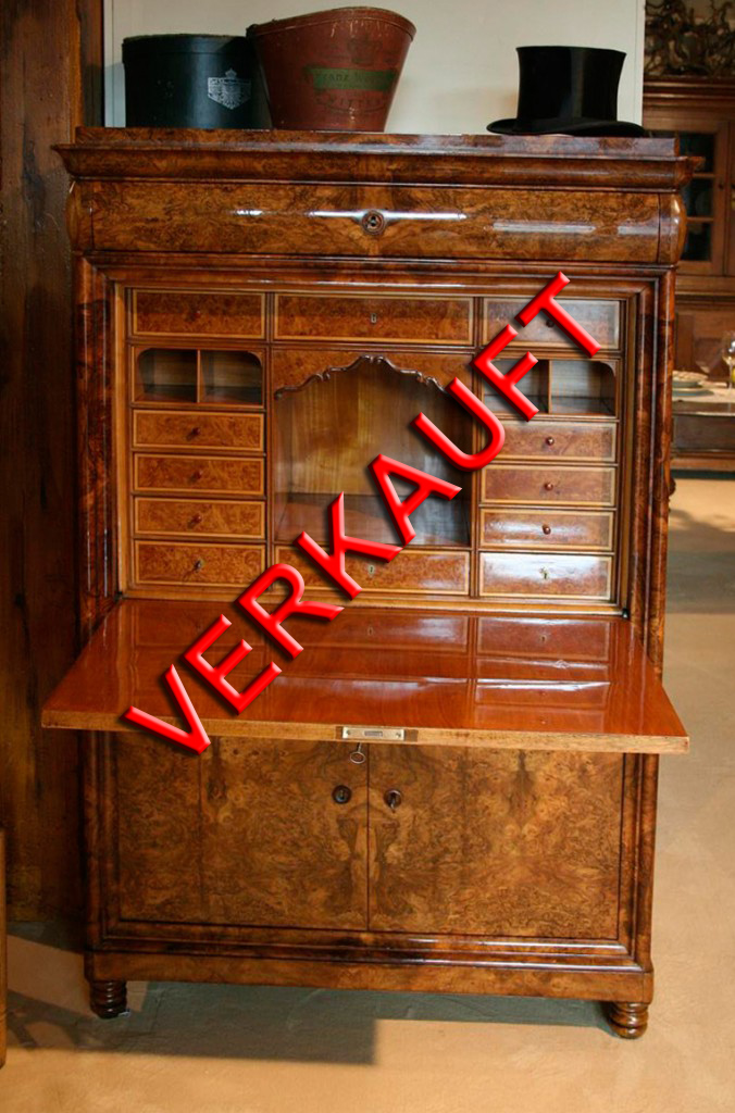biedermeier schreibschrank antiquit ten frede in m nster restaurierung antiker m bel. Black Bedroom Furniture Sets. Home Design Ideas