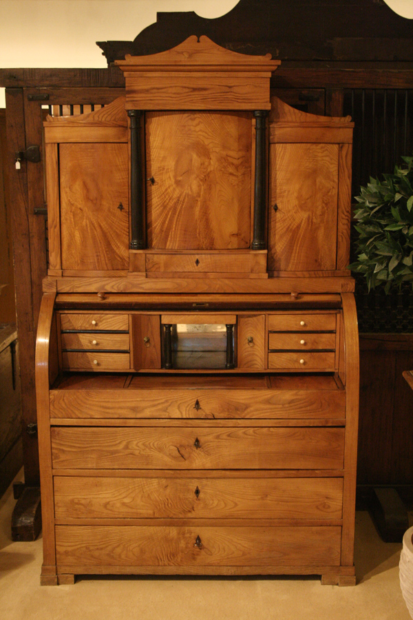 sekret r mit aufsatz antiquit ten frede in m nster. Black Bedroom Furniture Sets. Home Design Ideas
