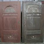 Türen während der Restaurierung